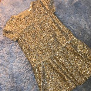 Gap Kids Gold Sequence Dress